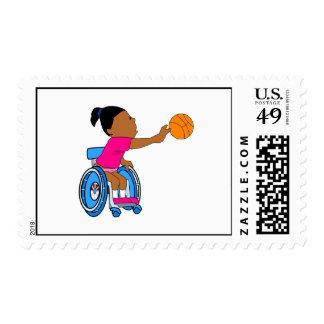 Chica del baloncesto sello