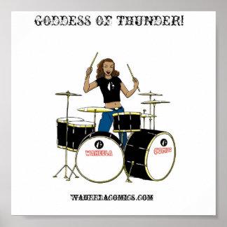 Chica del batería de Waheela Poster