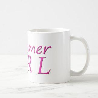 Chica del batería taza de café