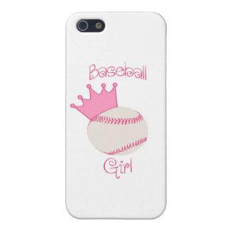 Chica del béisbol iPhone 5 carcasas