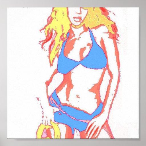 Chica del bikini poster