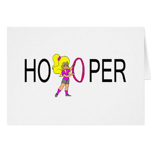 Chica del Blonde de Hooper Tarjeta De Felicitación
