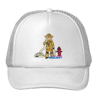 Chica del bombero - Blonde Gorros Bordados
