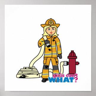 Chica del bombero - Blonde Poster