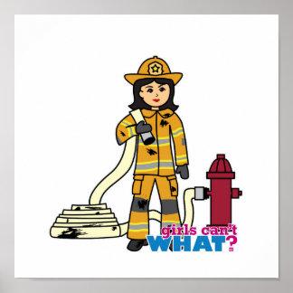 Chica del bombero - Brunette Posters
