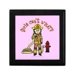 Chica del bombero caja de joyas