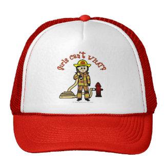 Chica del bombero gorras de camionero