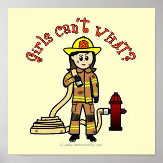Chica del bombero impresiones