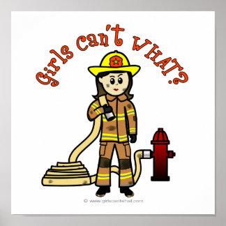 Chica del bombero posters