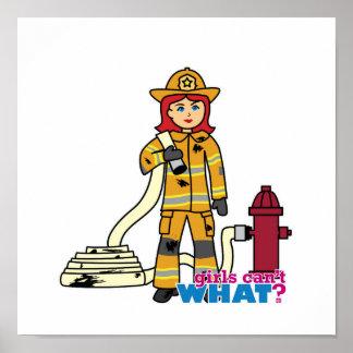 Chica del bombero - rojo poster