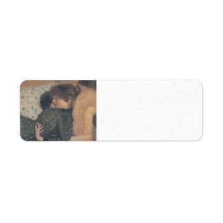 Chica del buey de Philip Wilson en un sofá Etiqueta De Remite