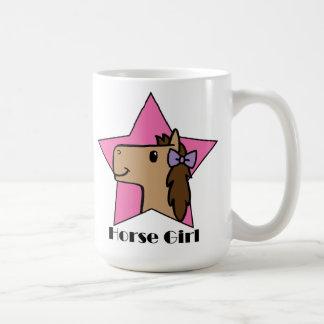 Chica del caballo tazas de café
