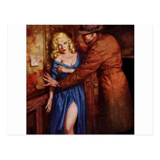Chica del callejón tarjetas postales