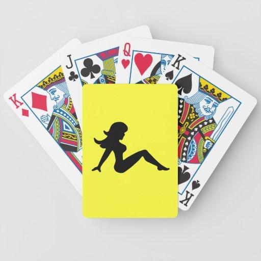 Chica del camionero baraja cartas de poker