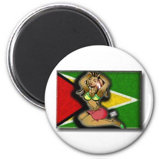 chica del Caribe Imán Redondo 5 Cm