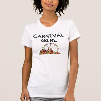 Chica del carnaval de la CAMISETA Poleras