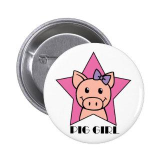 Chica del cerdo pins