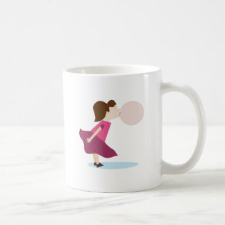 Chica del chicle taza clásica