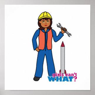 Chica del científico de Rocket Poster