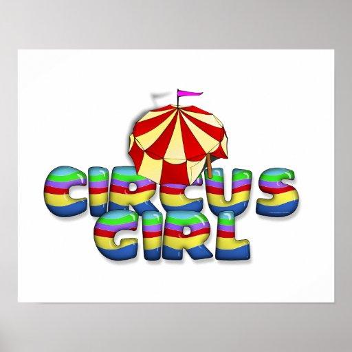 Chica del circo de la CAMISETA Póster