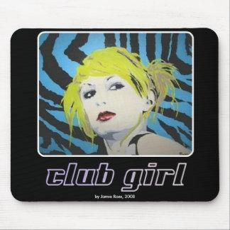 """""""Chica del club"""" en un Mousepad"""