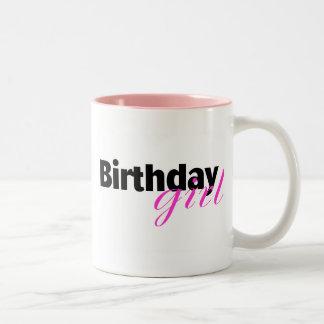Chica del cumpleaños (2) taza de dos tonos