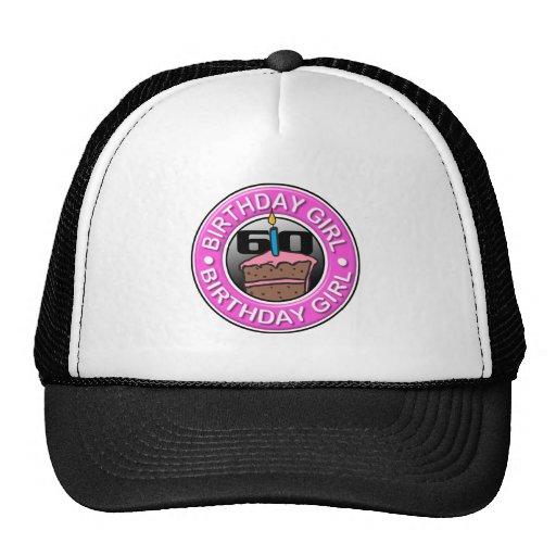 Chica del cumpleaños 60 años gorras de camionero