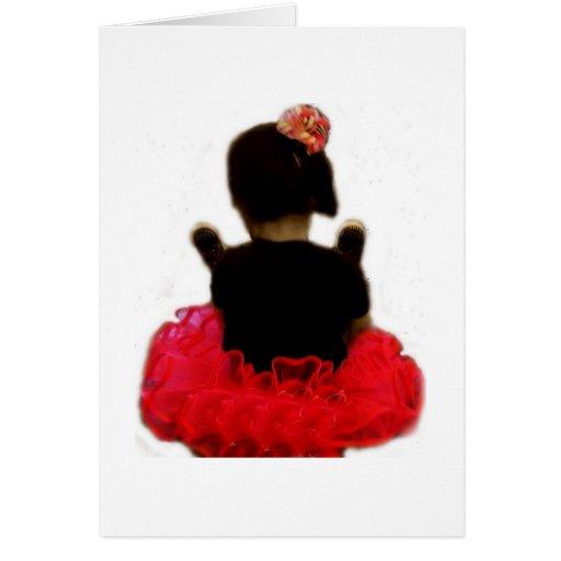 Chica del cumpleaños - aliste para oscilar tarjeta