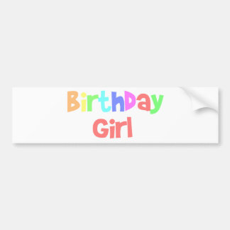 Chica del cumpleaños pegatina de parachoque
