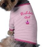 Chica del cumpleaños camisetas mascota