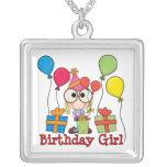 Chica del cumpleaños collares personalizados