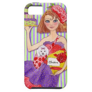 Chica del cumpleaños con nombre y edad adaptables  iPhone 5 cárcasa