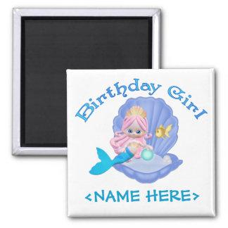 Chica del cumpleaños de la sirena de Lil Imán Cuadrado