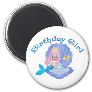 Chica del cumpleaños de la sirena de Lil Imán Redondo 5 Cm