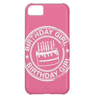 Chica del cumpleaños - efecto blanco del sello de  funda para iPhone 5C