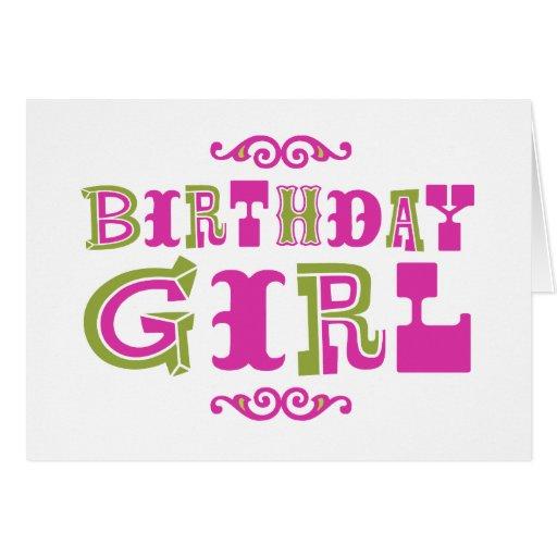 Chica del cumpleaños felicitacion