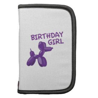 Chica del cumpleaños organizador