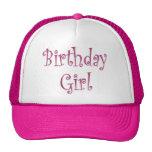 Chica del cumpleaños gorras
