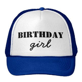 Chica del cumpleaños gorros