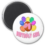 Chica del cumpleaños imán