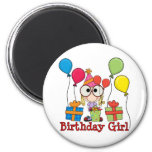 Chica del cumpleaños imán de frigorífico
