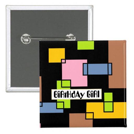 Chica del cumpleaños pin