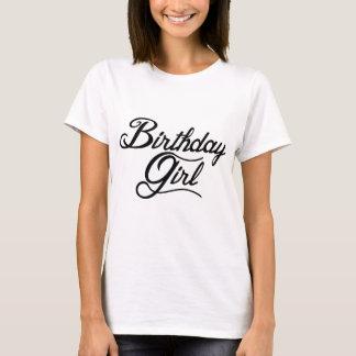 Chica del cumpleaños playera