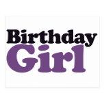 Chica del cumpleaños postal