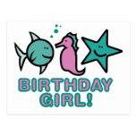 ¡Chica del cumpleaños! Postal
