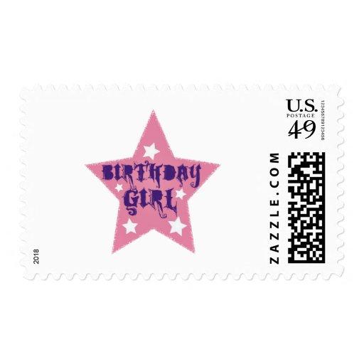 Chica del cumpleaños sellos