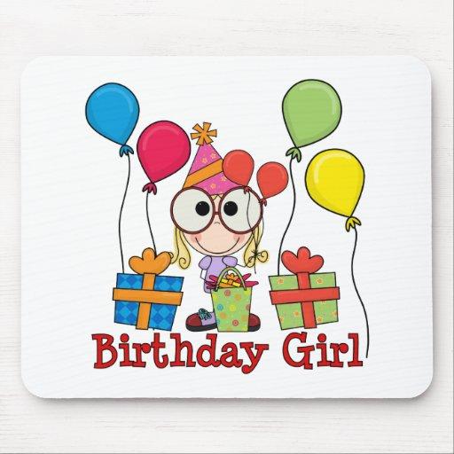Chica del cumpleaños tapete de ratón