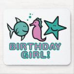 ¡Chica del cumpleaños! Tapetes De Raton