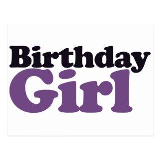 Chica del cumpleaños tarjetas postales