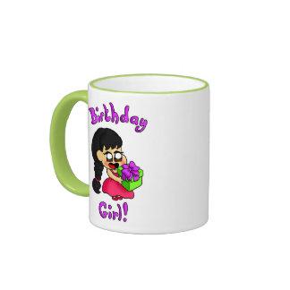Chica del cumpleaños taza de dos colores